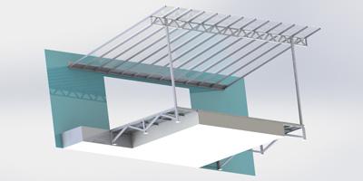 Konstrukce plošiny se zastřešením DuoTech